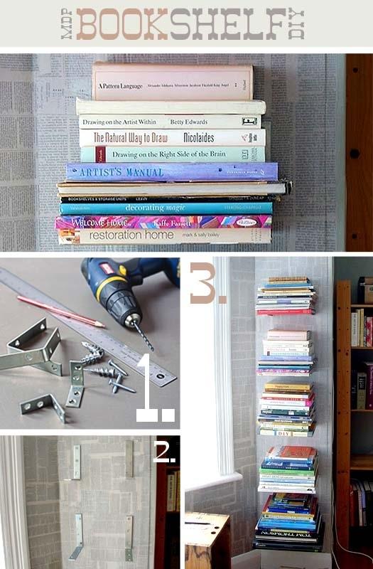 525x800 25 Awesome Diy Ideas For Bookshelves