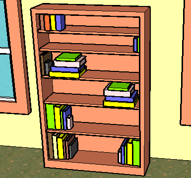 385x359 How To Draw A Bookshelf