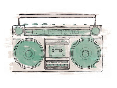 400x300 Boombox Ill Color By Jesse Hora