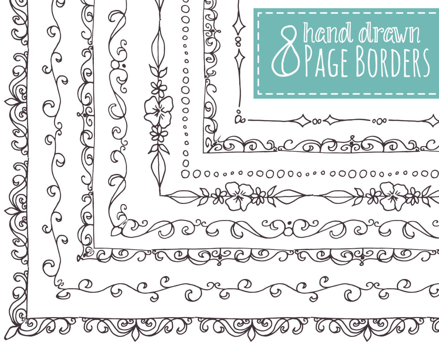 1500x1188 Border Design Drawing For Boys Clip Art 8 Page Borders Hand