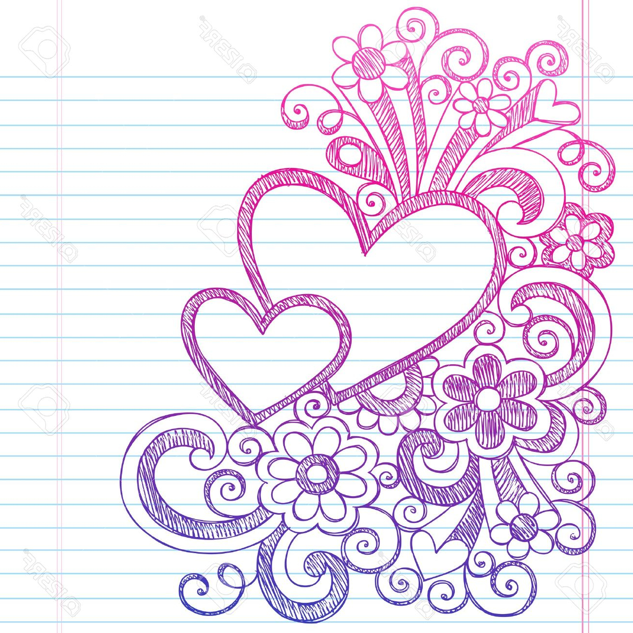 1300x1300 Border Design With Flower In Sketch Pencil Drawings Of Designs