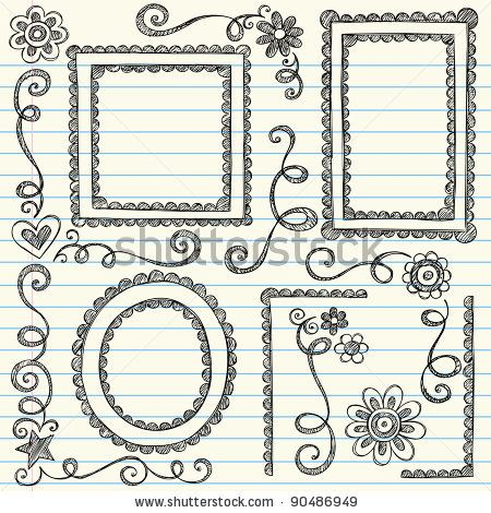 450x470 Easy to Draw Border Designs Easy Border Designs To Draw Frames