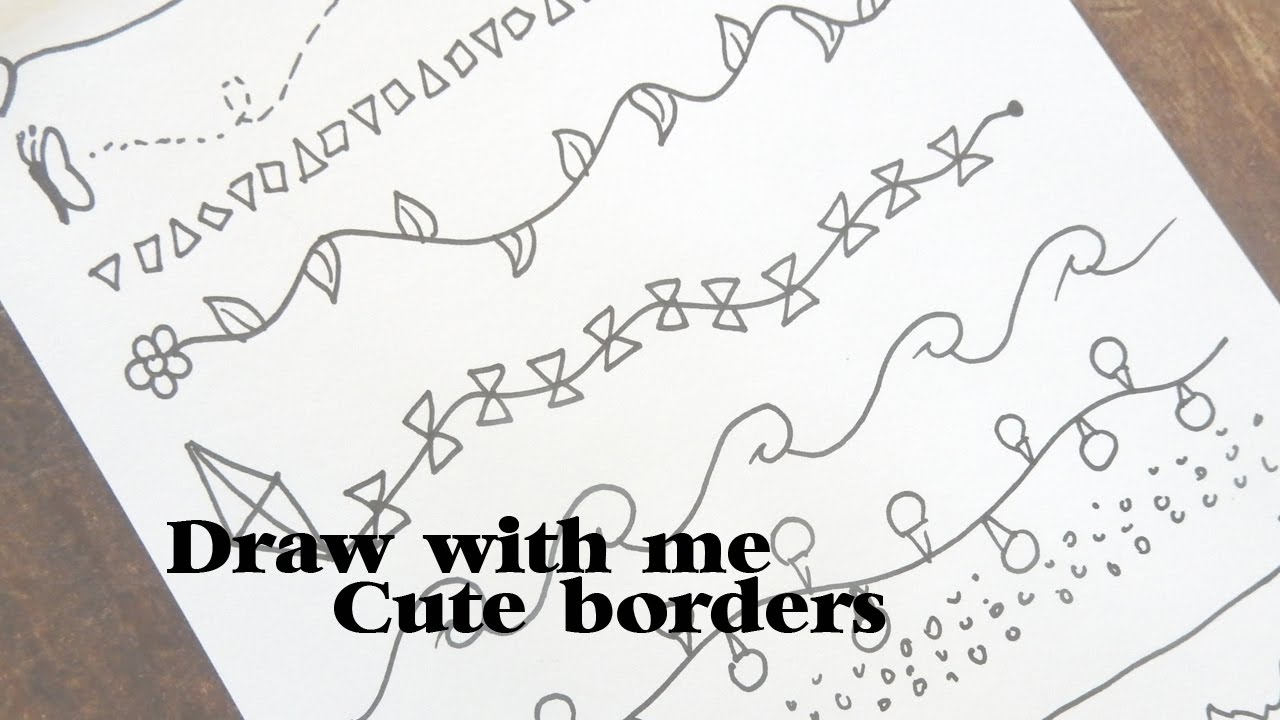 1280x720 How To Draw Simple Border Designs With Me Cute Borders
