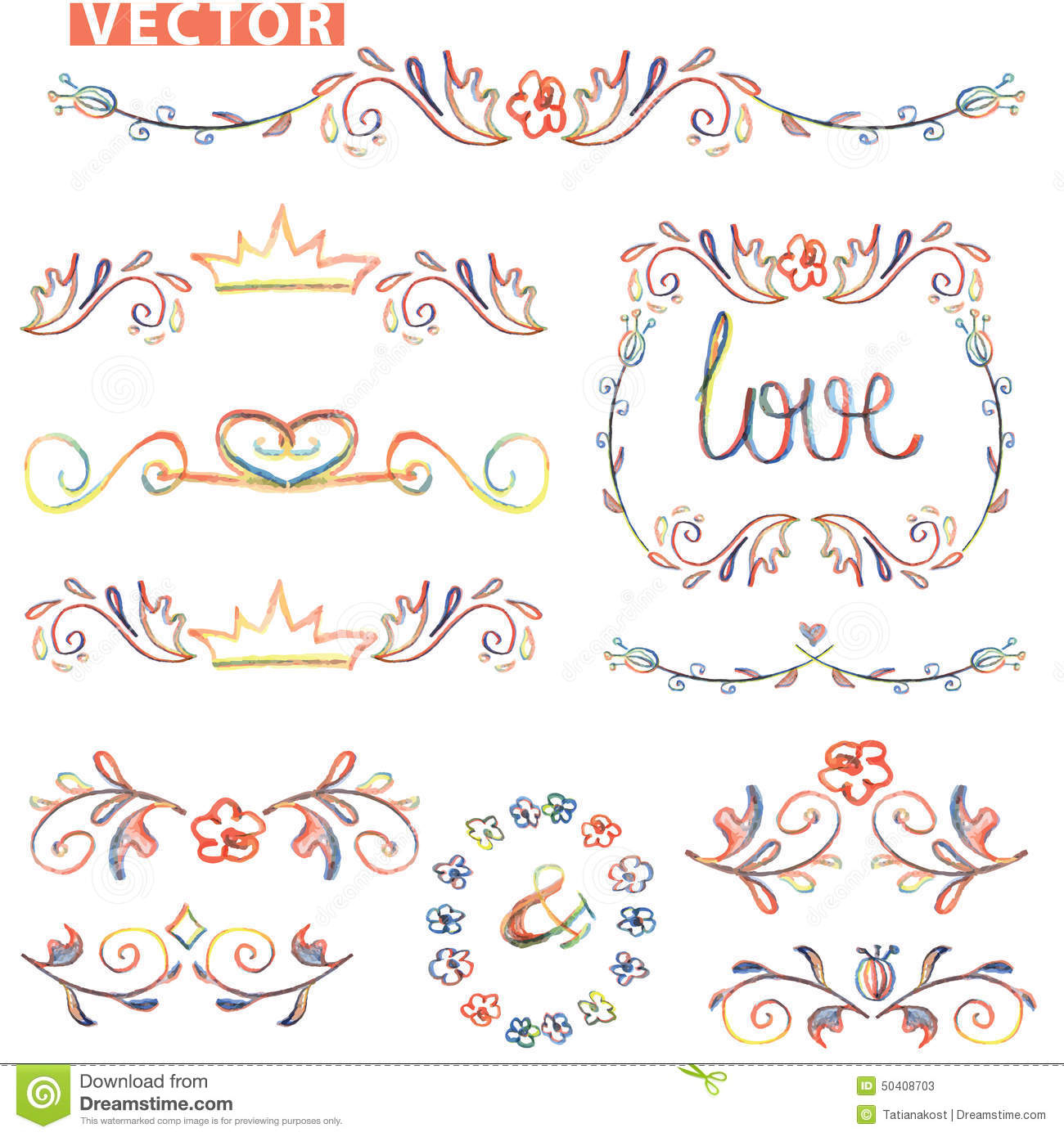 1300x1390 Border Designs For Drawing Vector Decorative Hand Drawn Dividers