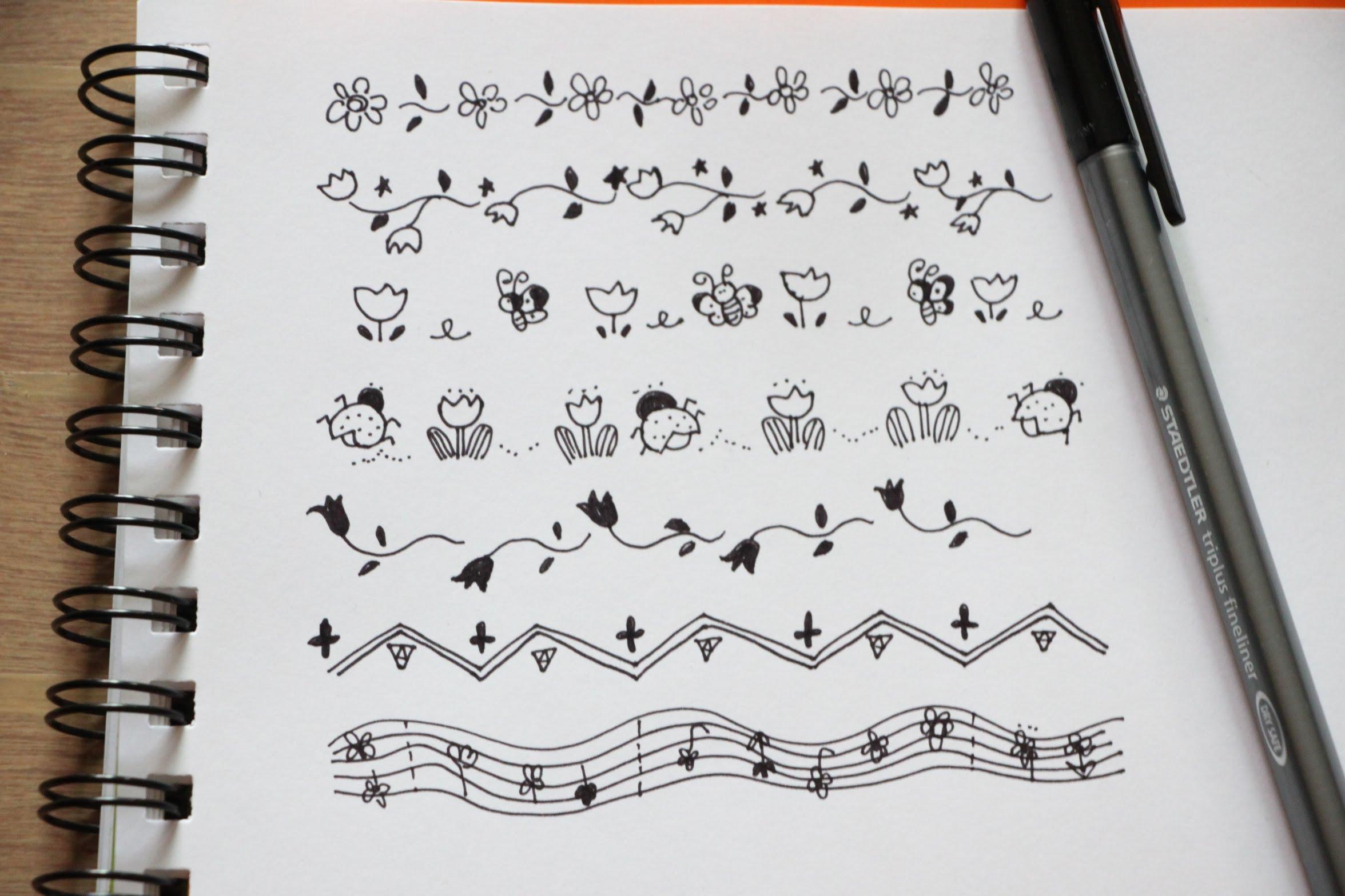 2352x1568 Hand Drawn Cute Borders + Frames