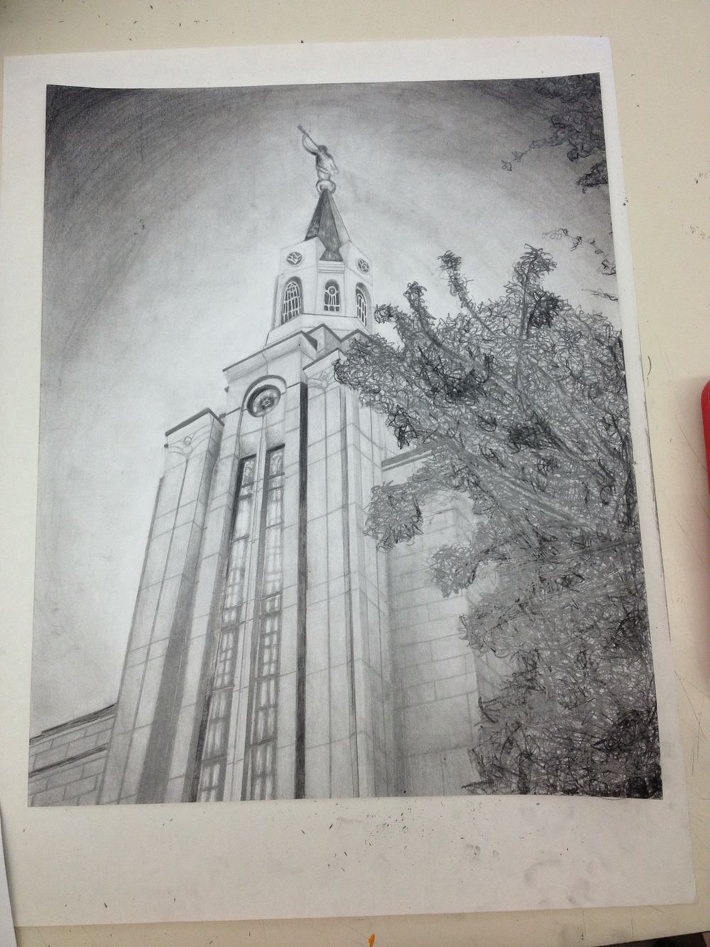 1000x1334 The Boston Lds Temple Pencil Drawing!
