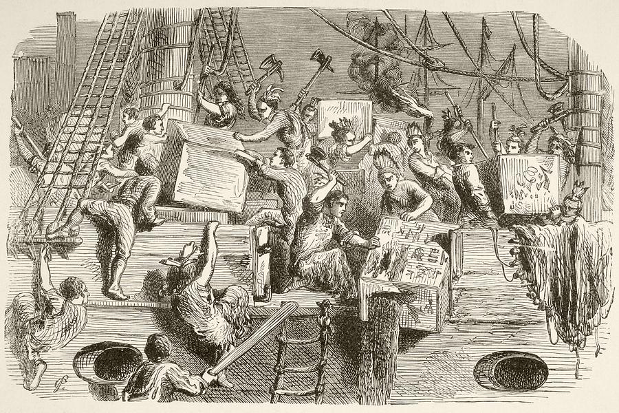 900x600 The Boston Tea Party, December 16 Drawing By Vintage Design Pics