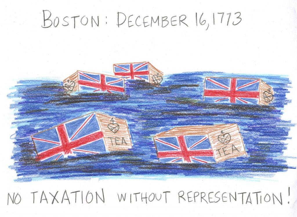 1024x750 Boston Tea Party Drawing Fun Family Crafts