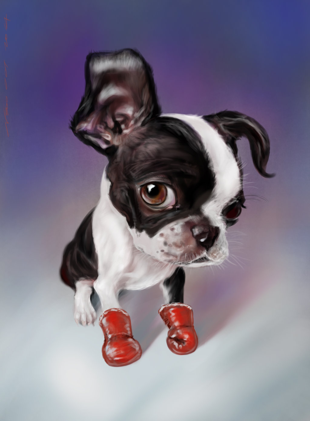 1024x1391 Boxing Boston Terrier Ps By Nosoart