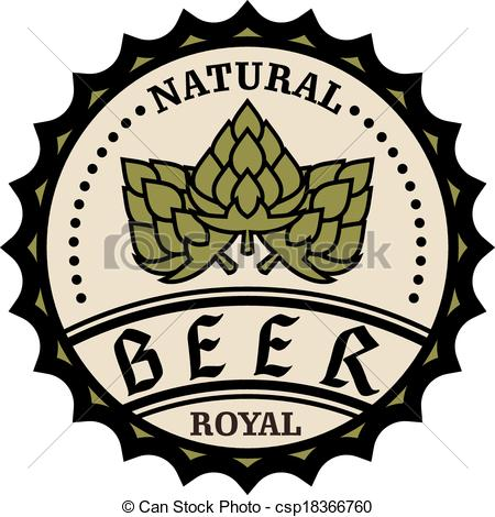 450x470 Circular Natural Royal Beer Icon Or Bottle Cap Design With Clip