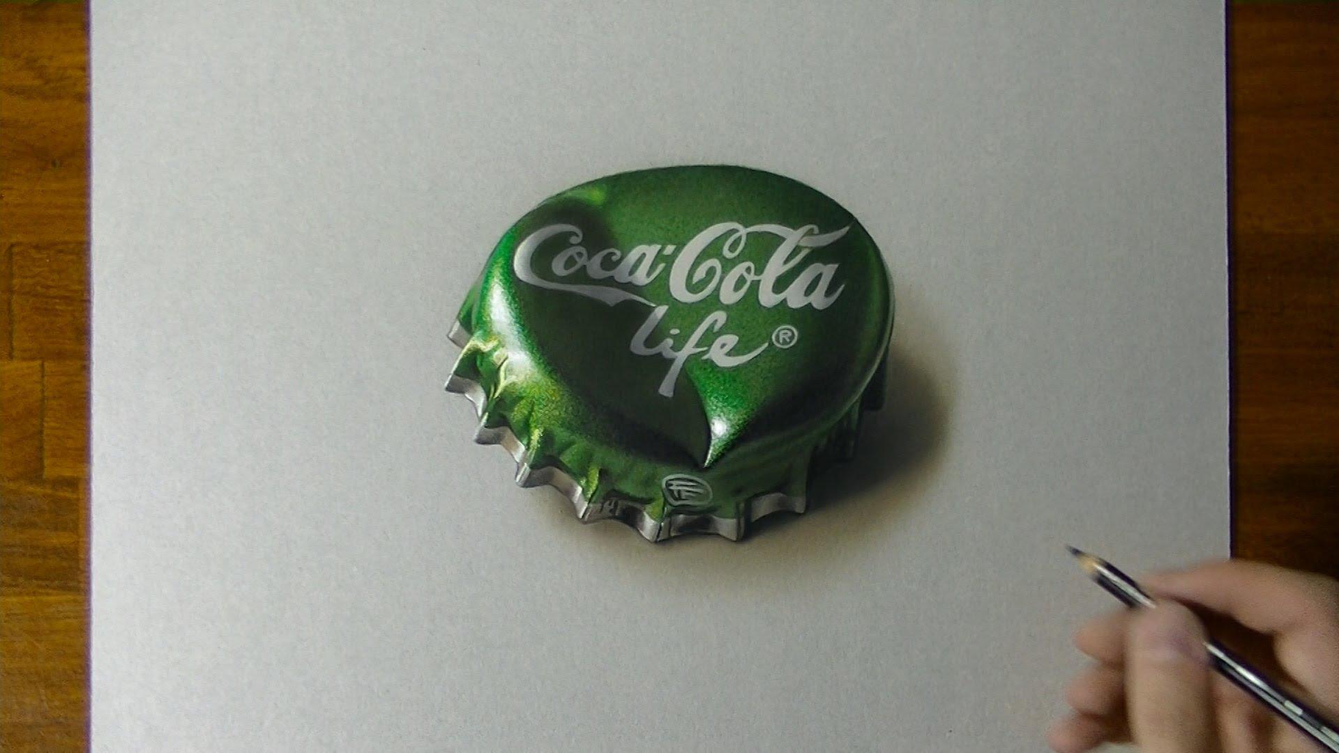 1920x1080 Drawing A Coca Cola Life Bottle Cap