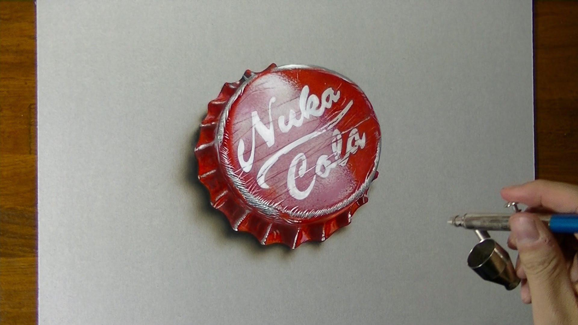 1920x1080 Fallout 4 Nuka Cola Bottlecap Drawing