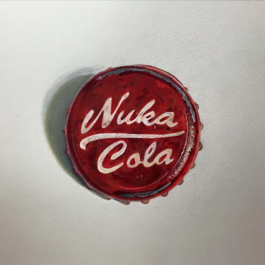 894x894 Fallout Nuka Cola Bottle Cap Drawing Pony Lawson By Ponylawson