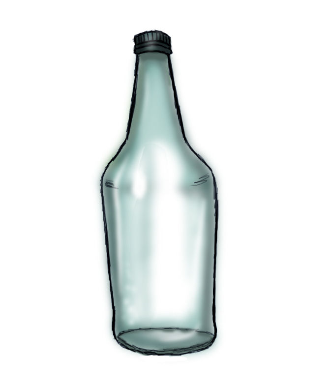 675x789 How To Draw A Bottle 6 Steps