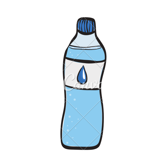 550x550 Drawing Of A Water Bottle