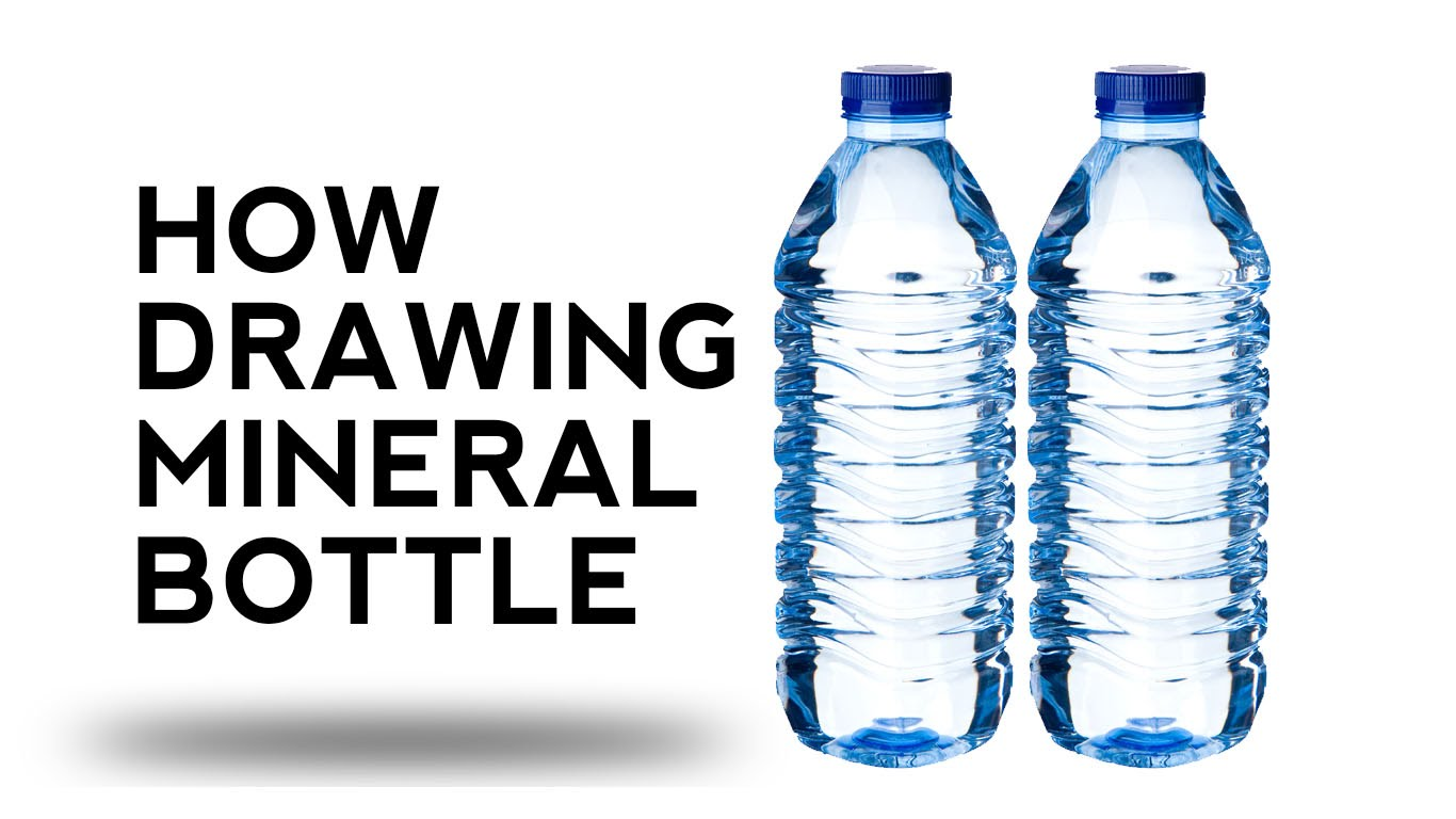 1366x768 How Draw Mineral A Bottle