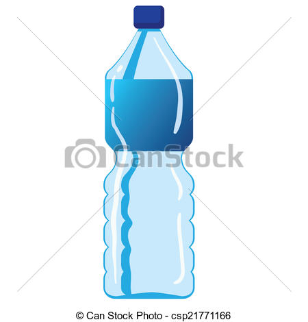 450x470 Vector Illustration Of Mineral Water Bottle Isolated On Clip