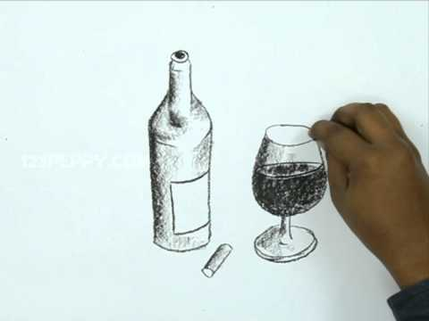 480x360 How To Draw A Wine Bottle