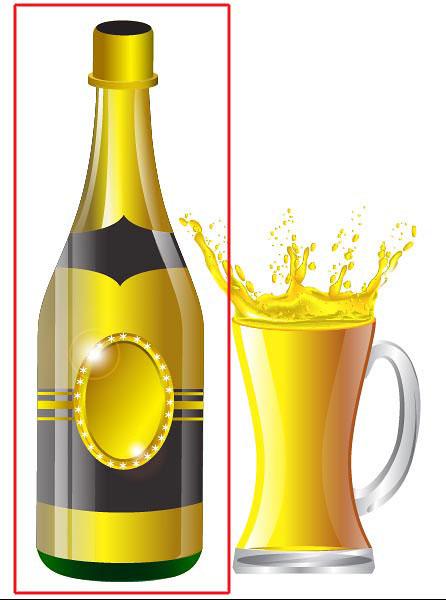 446x600 Illustrator Tutorial Vector Wine Bottle And Glass