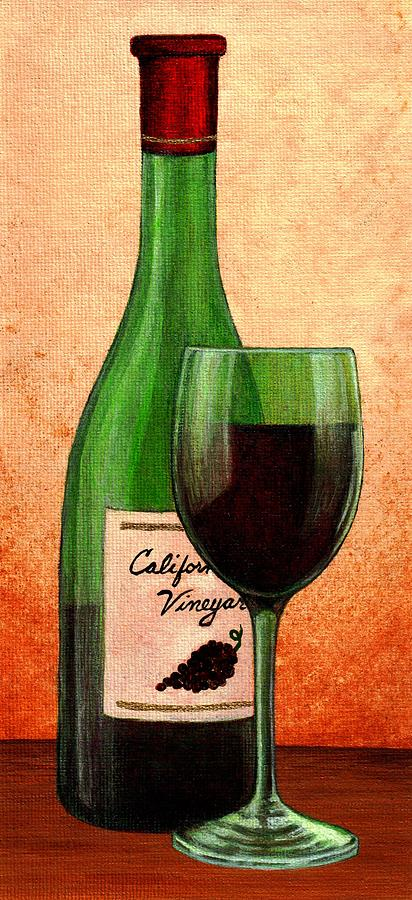 412x900 Wine Bottle And Glass Drawing Wine Glass With Bottle Painting