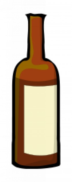 250x626 Wine Bottle Drawing Vector Free Download