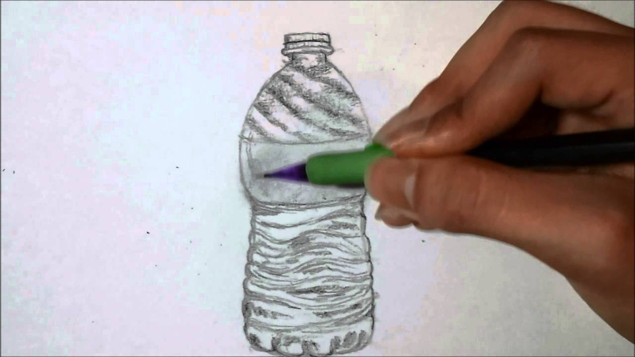 1280x720 How To Draw Water Bottle