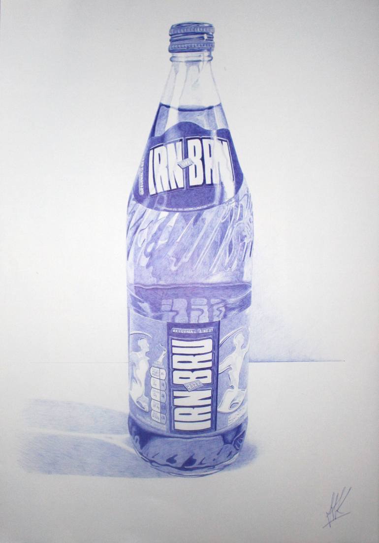 770x1103 Saatchi Art Irn Bru Glass Bottle Drawing By Andrew Kennedy