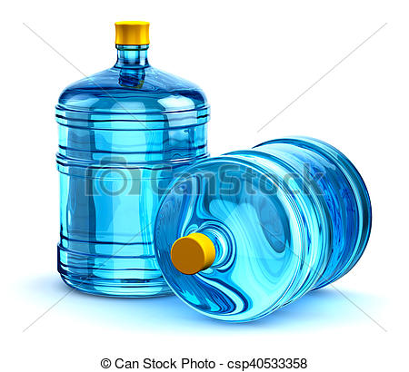 450x410 Two 19 Liter Or 5 Gallon Plastic Drink Water Bottles. Group