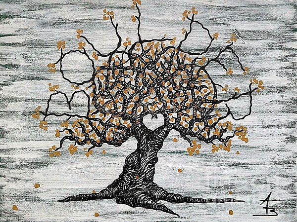 600x450 Boulder Love Tree Drawing By Aaron Bombalicki