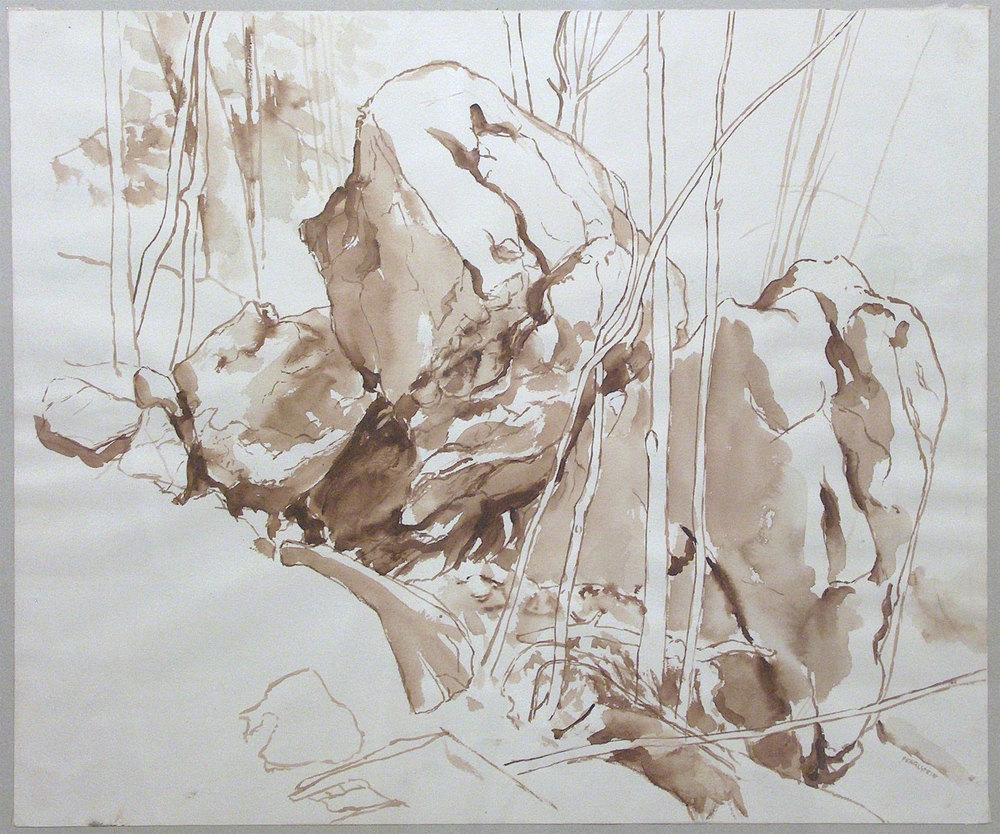 1000x834 Philip Pearlstein Places Drawing
