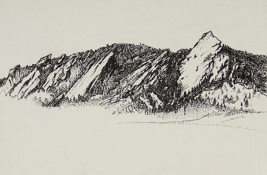 900x589 The Flatirons Drawing By Benn Nadelman