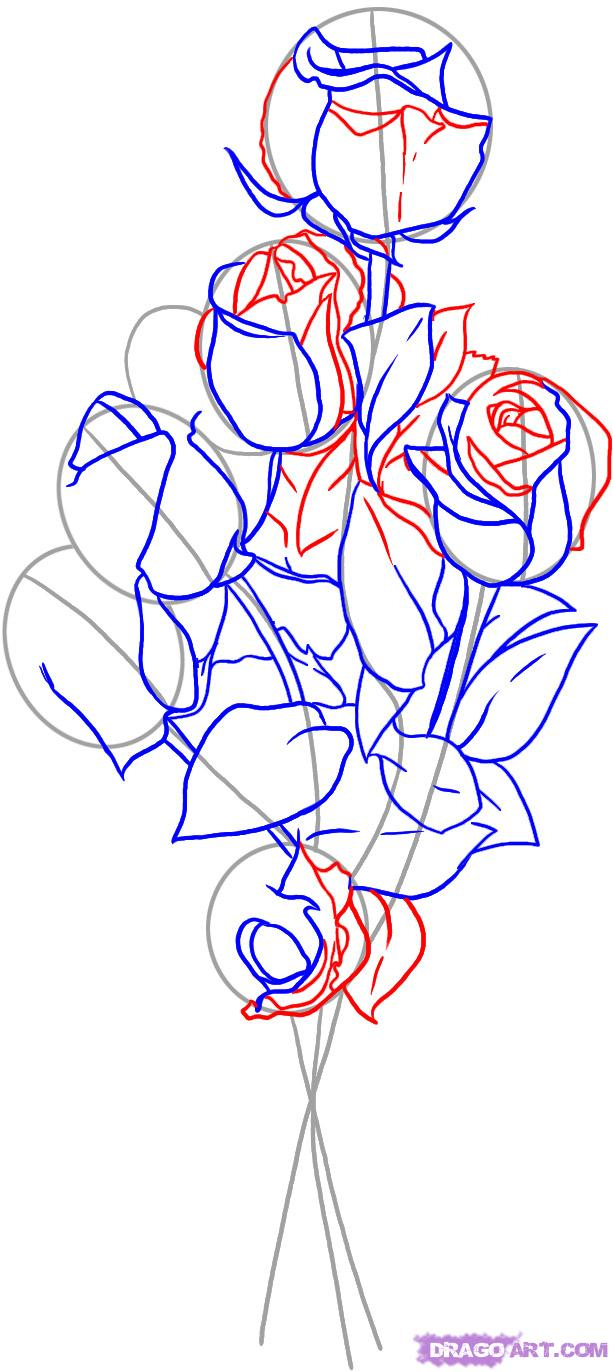 Bouquet Drawing at GetDrawings.com | Free for personal use Bouquet ...