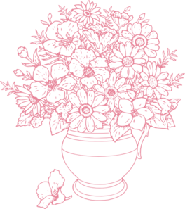 264x297 Bouquet Of Flowers Clip Art