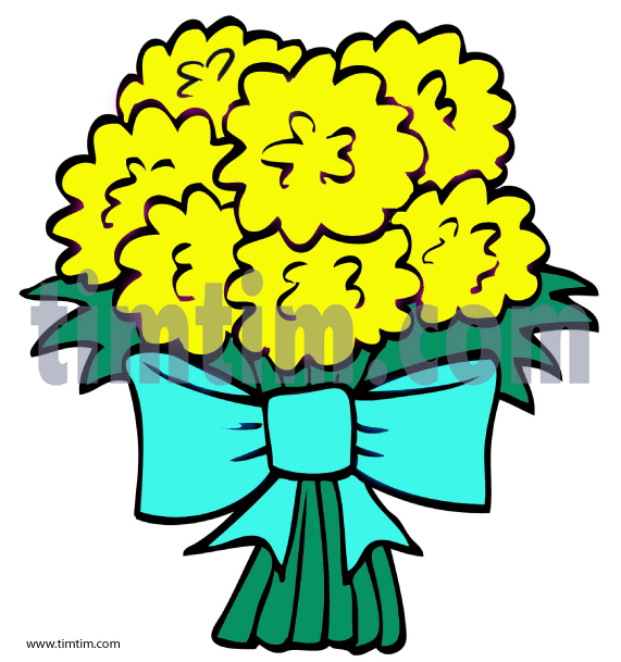 571x609 Free Drawing Of Flower Bouquet 2 From The Category Building Home