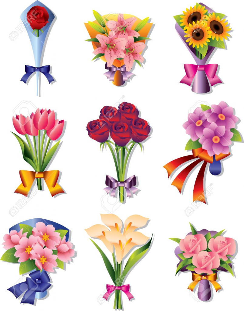 804x1024 How To Draw A Bunch Of Flower Draw Bunch Of Flowers Cartoon Bunch