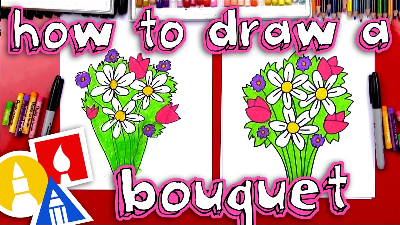 1280x720 How To Draw A Flower Bouquet