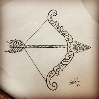 320x320 Latest Bow And Arrow Tattoo Designs