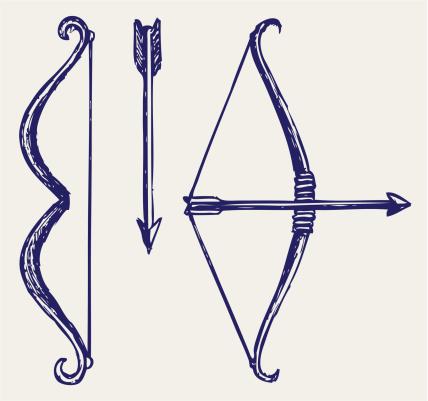 428x401 Bow And Arrow Vector Art 155240133 Style Vector
