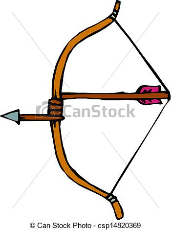 350x470 Bow And Arrow Clip Art Vector