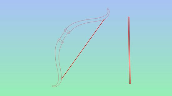 550x309 How To Draw A Bow And Arrow 5 Steps (With Pictures)