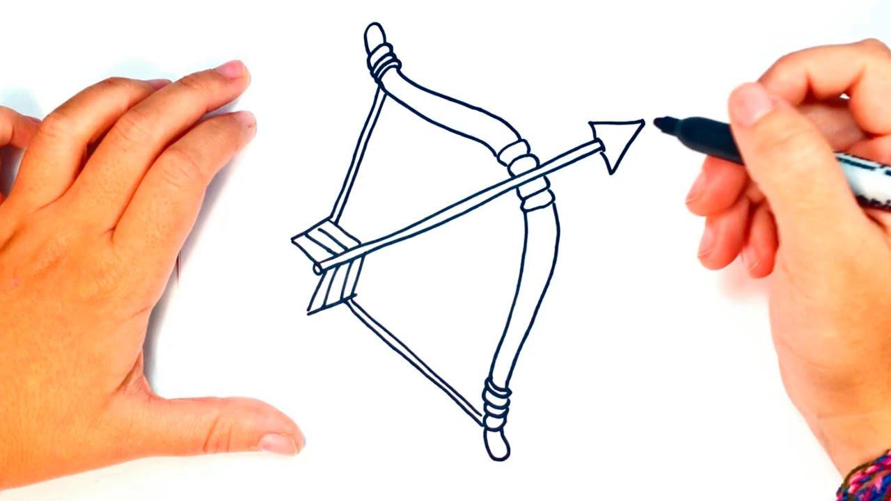 1280x720 How To Draw A Bow And Arrow Bow And Arrow Easy Draw Tutorial