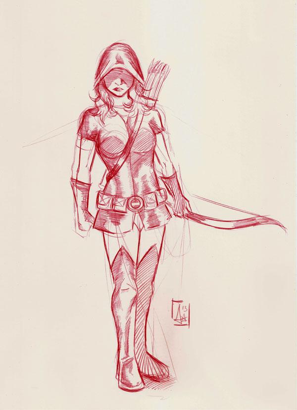 600x828 Sketch Bow And Arrows. By Adrylavi