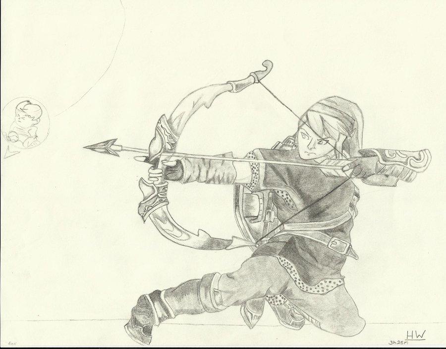 900x703 Ssbb Link's Bow And Arrow By Nintensony