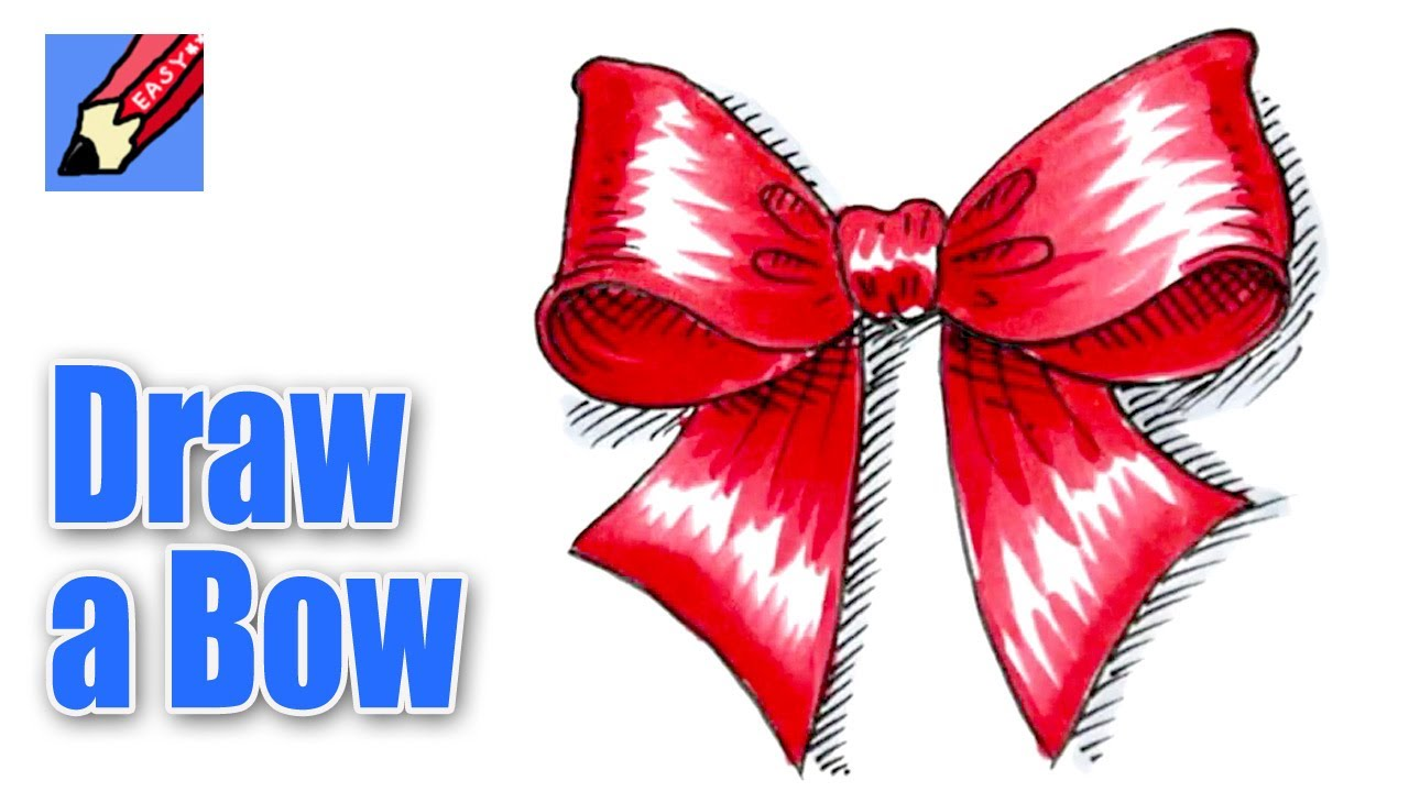 1280x720 How To Draw A Christmas Bow