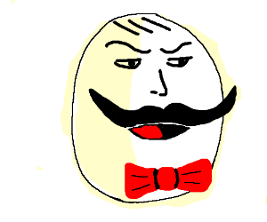 300x250 Egg With A Face And Moustache Wearing Bow Tie