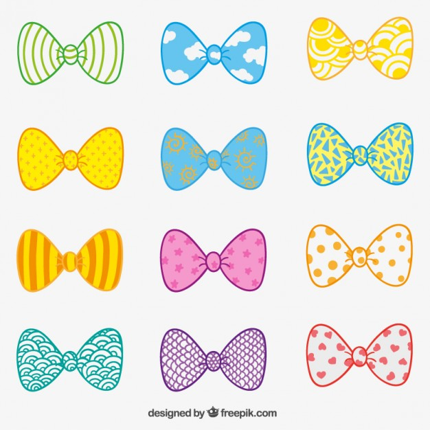 626x626 Hand Drawn Bow Ties Vector Free Download