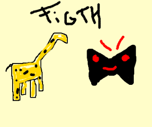 300x250 A Giraffe Against A Dead Evil Bow Tie (Drawing By Evil M)