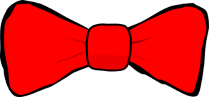 296x138 Bow Tie Red Clip Art