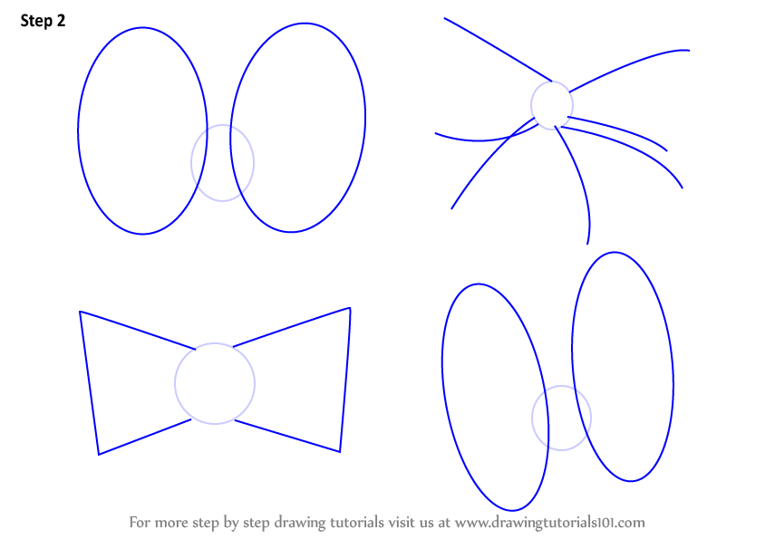 844x595 Learn How To Draw Minnie Mouse Bow Tie (Minnie Mouse) Step By Step