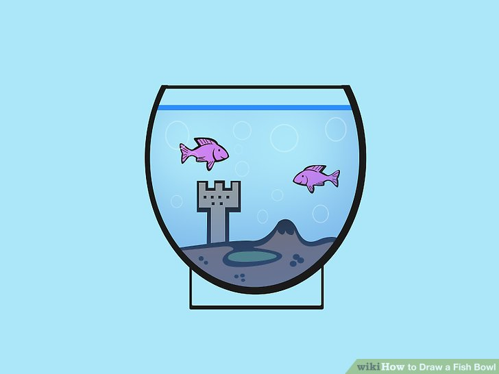 728x546 How To Draw A Fish Bowl 7 Steps (With Pictures)
